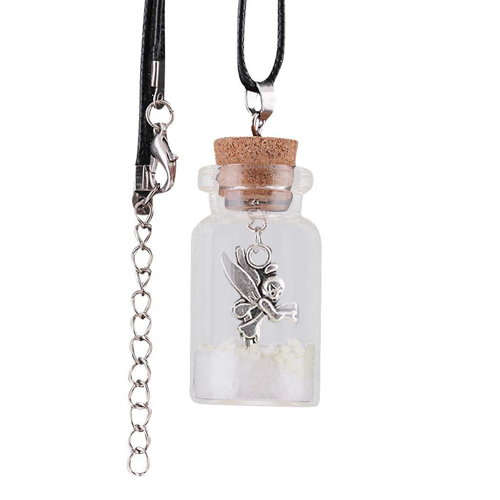 CZYCO Necklace Chain, Glowing Santa Claus Necklace Snowflake Glass Cover Luminous Pendant Necklace