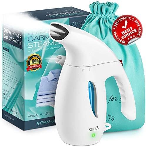 - KULLIS Premium [New-Upgraded] - Premium Steamer for Clothes, Clothes Steamer, Portable Handheld Clothing Steamer. 8-in-1 Hand Travel Fabric Steamer, Home Wrinkle Remover, Garment Iron Steamer