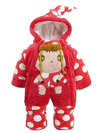 ARAUS Bebé Invierno Saco de Dormir Grueso Traje de Pierna de Navidad Cálido Velvet Romper 3-12 Meses: Amazon.es: Ropa y accesorios