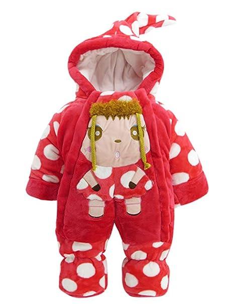ARAUS Bebé Invierno Saco de Dormir Grueso Traje de Pierna de Navidad Cálido Velvet Romper 3