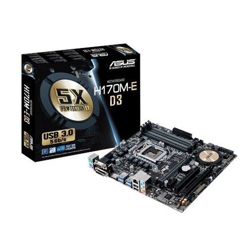 2 opinioni per Asus H170M-E D3 Intel mATX Scheda Madre 1151, DDR3, Nero