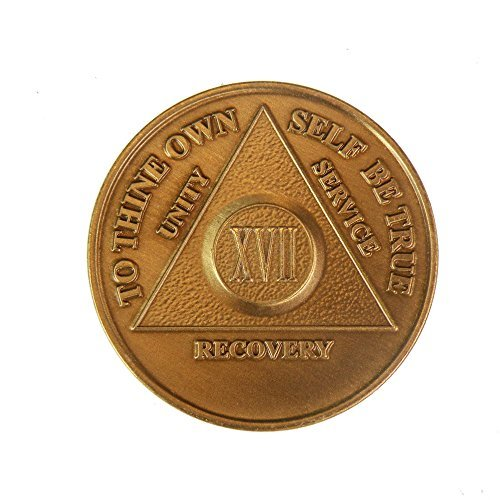 17 Year Bronze AA (Alcoholics Anonymous) - Sober / Sobriety / Birthday / Anniversary / Recovery / Medallion / Coin / Chip