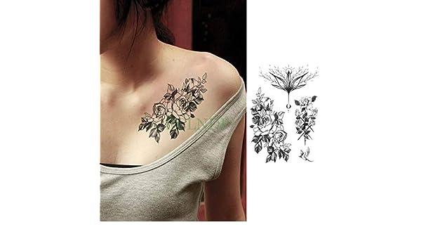 Modeganqing Conjunto de 5 Piezas Impermeable Tatuaje Temporal ...