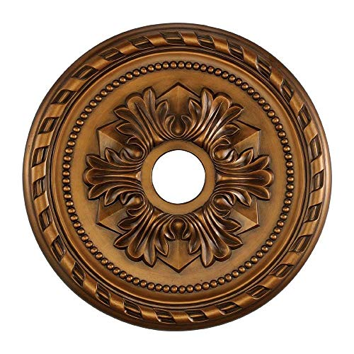 Elk M1005AB Corinthian Ceiling Medallion, 22-Inch, Antique Bronze Finish ()