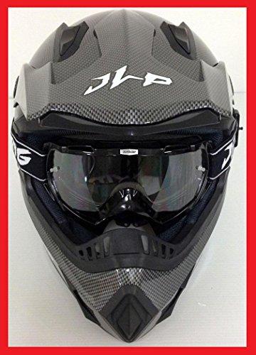 Kopfhörer + Brille Maske Moto Cross Quad MTB BMX MTB JLP Racing Größe XL