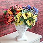 1X-Bouquet-Artificial-Simulation-Silk-Flower-Pansy-Artificial-Plant-Wedding-Party-Home-Hotel-Table-Decoration-Rose-Red
