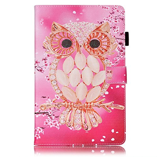 Cover Samsung Galaxy Tab E 9.6 T560/T561/T565 Premium PU Leather Cover Smart Stand Case with Card Slots Protective Shell for Samsung Galaxy Tab E 9.6 T560/T561/T565 (Seashell cat)