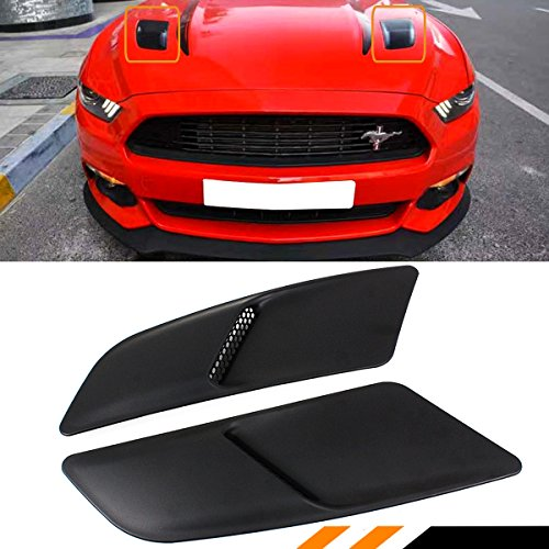 Cuztom Tuning For 2015-2017 Ford Mustang GT Bonnet Hood Vent Scoop Heat Extractors Direct Replacement Pair