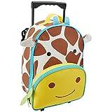 Skip Hop Zoo Little Kid & Toddler Travel Rolling Luggage Backpack (Ages 3+), Multi, Jules Giraffe