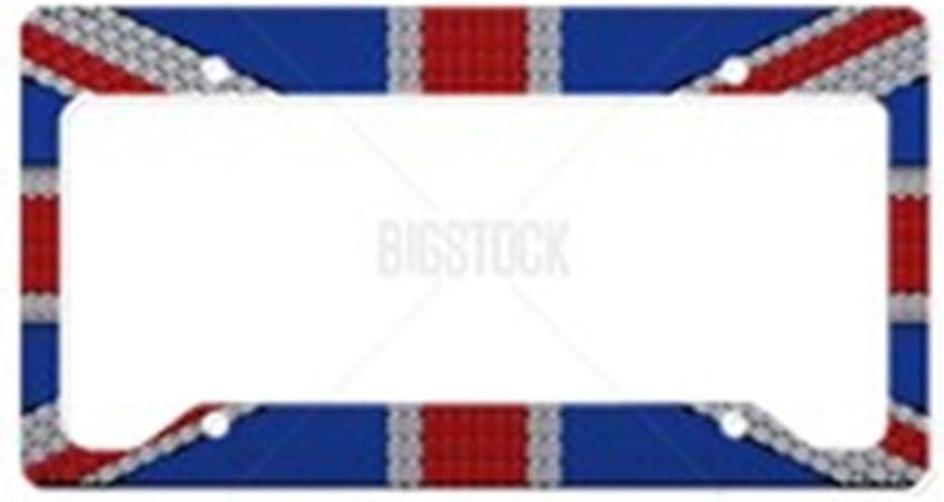Cafepress Union Jack Flag Number Plate Holder Auto