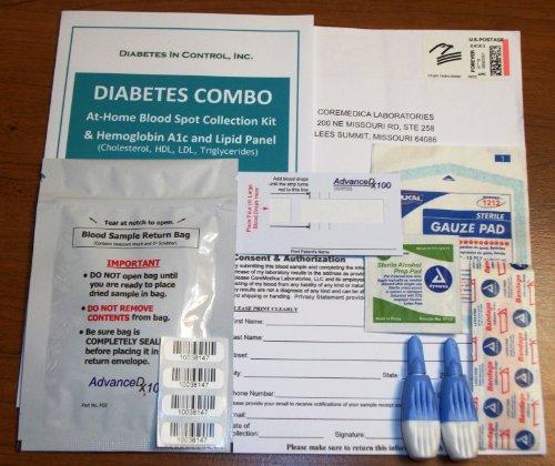 Diabète Combo Test - bilan lipidique + A1c test
