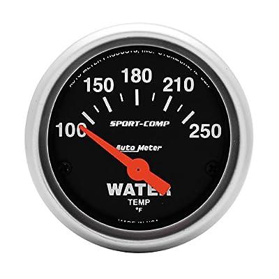 Auto Meter 3337 Sport-Comp Electric Water Temperature Gauge: Automotive