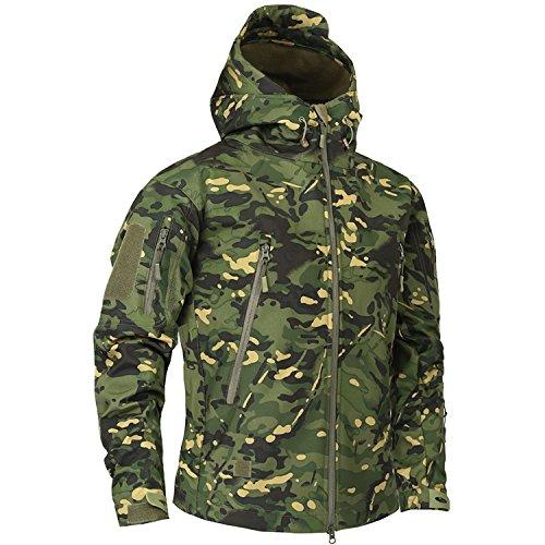 LOKOUO Clothing Autumn Men's Military Fleece Jacket Army Tac