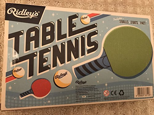 NEW RIDLEY'S TABLE TENNIS PING PONG GAME INCL BALLS, NET, 2 BATS - TOYS / GAMES by Ridleys