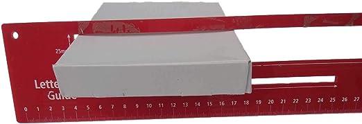 Noir 17 x 10 x 3 cm Lot de 5 petites bo/îtes postales plates en forme de S