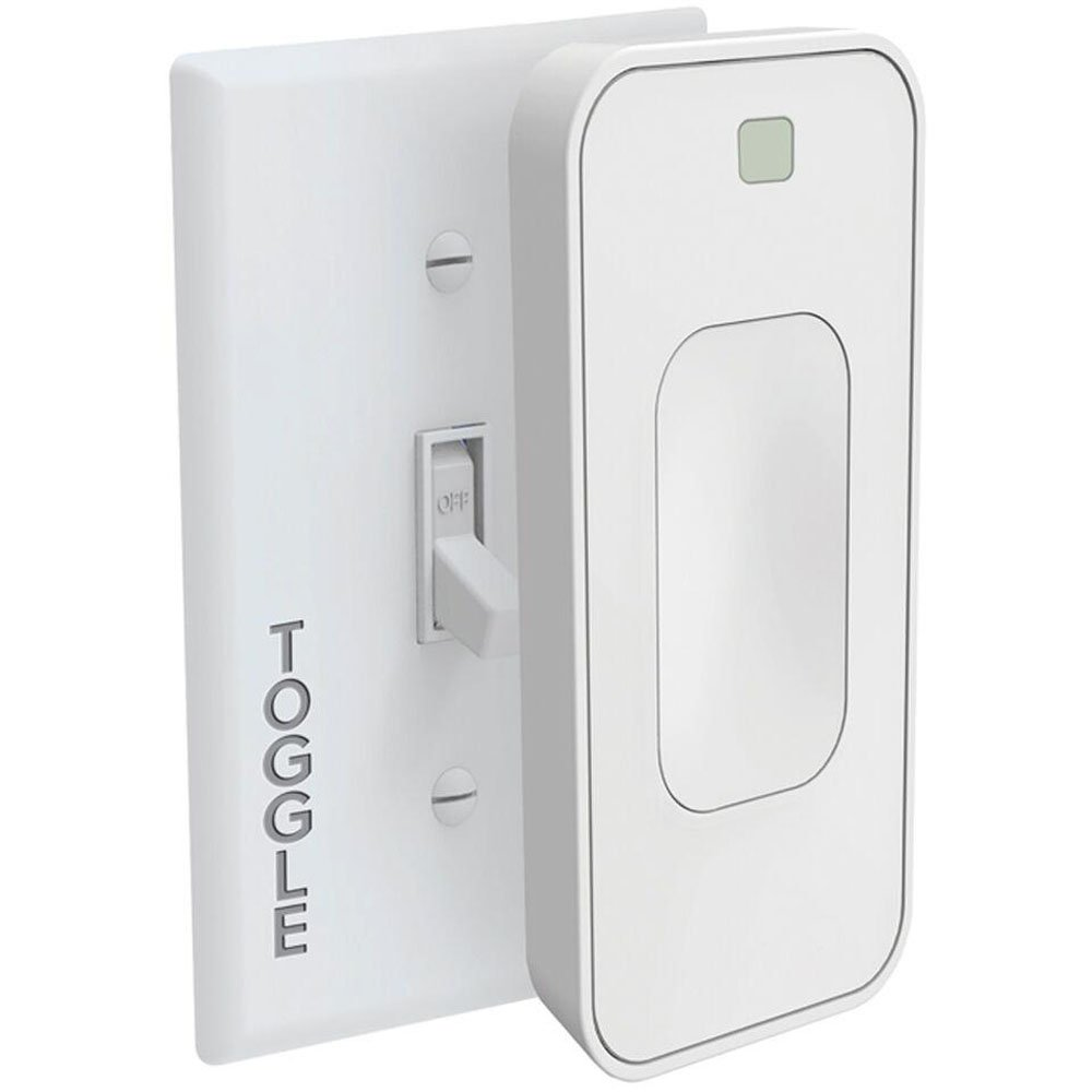 White - Renewed SimplySmartHome Motion Activated Instant Smart Light Switch Toggle That Listens 3