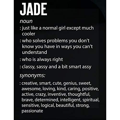 (Inked Creatively Jade Name Meaning Xmas Birthday Gift - Sticker)