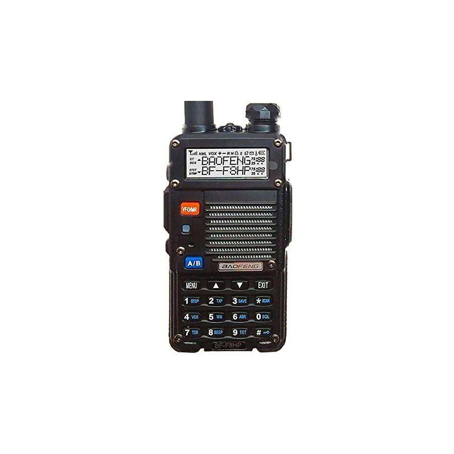 BaoFeng BF F8HP (UV 5R 3rd Gen) 8 Watt Dual Band Two Way Radio (136 174Mhz VHF & 400 520Mhz UHF) Includes Full Kit