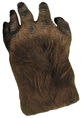 Forum Novelties Unisex Adult Hairy Hands Costume Accessory, Brown, One Size