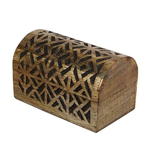 Handmade|Wooden Carved Box/Wood Jewelry Box/ Trinket/ Keepsake/ Storage Box  (8.5 X 5 X 5)
