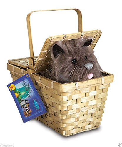 Cheap Dorothy Wizard Of Oz Costumes (Popcandy Toto In Basket Deluxe Wizard Of Oz Costume Prop Dorothy Basket W Toto 583)