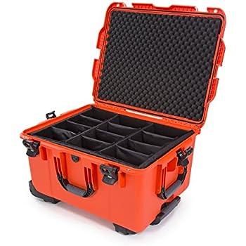 nanuk 960 waterproof hard case with wheels and padded divider orange camera photo. Black Bedroom Furniture Sets. Home Design Ideas