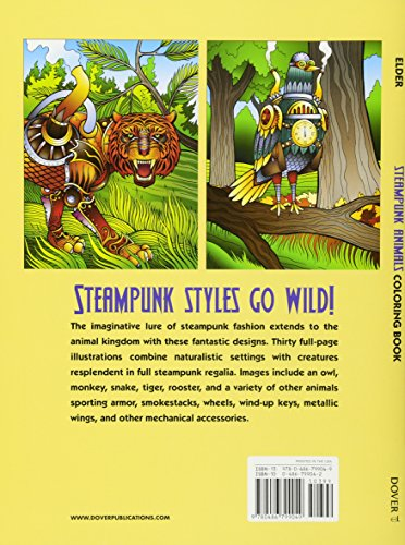 Steampunk Animals Coloring Book (Adult Coloring) 4