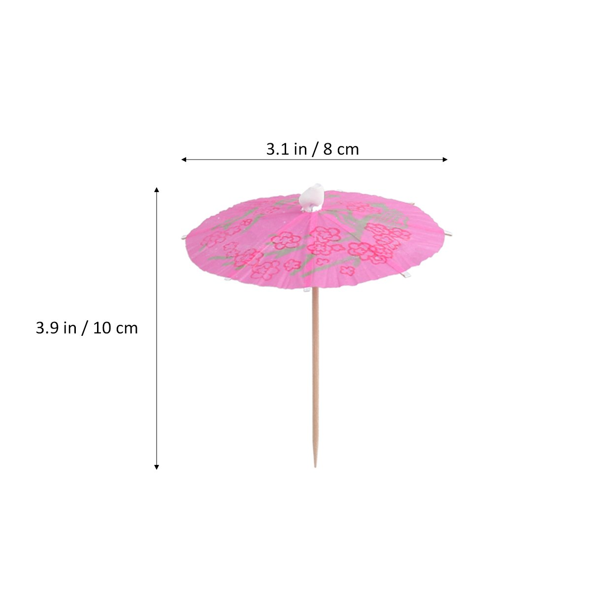 LUOEM Umbrella Parasol Cocktail Picks Cocktail Parasol Drink Cupcake Toppers Umbrella Paper Parasol Picks for Hawaiian Party Pool Party,Pack of 50 Mixed Color