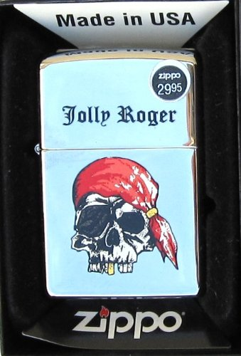 Zippo Jolly Roger High Polished Chrome