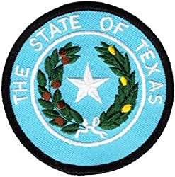"""Texas - 3"""" Round State Seal Patch"""