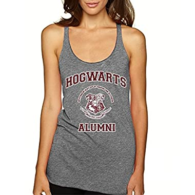 Allntrends Women's Tank Top Hogwarts Alumni (M, Premium Heather)