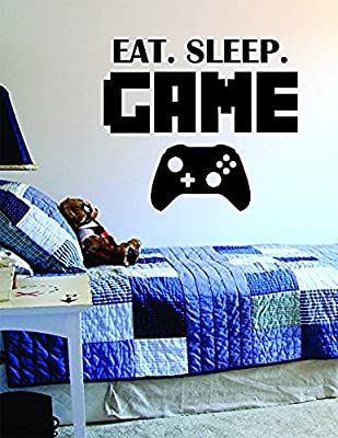 Crystal Emotion Eat Sleep Game Version 2 Sticker Wall Vinyl Art For You