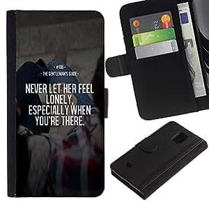 iBinBang / Flip Funda de Cuero Case Cover - Su Never Love Inspiring esposa - Samsung Galaxy S5 Mini, SM-G800, NOT S5 REGULAR!