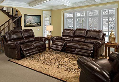 - Parker Living - Thurston Havana 2 Piece Dual Power Reclining Sofa Set - PAL-MTHU-832P-HA-2SET