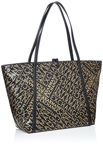 black Bag Dorado Armani gold Bolsos Medium Shopping Totes Mujer Exchange q6wBg8