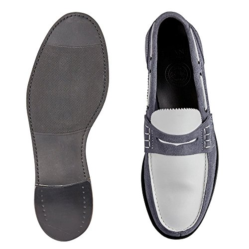 Joseph Cheaney & Sons Mirage d Mocassin en Daim Castoro Denim/Blanc White on7e5OB4Q