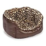 Slumber Pet Plush Safari Nesting Bed, 26-Inch, Leopard
