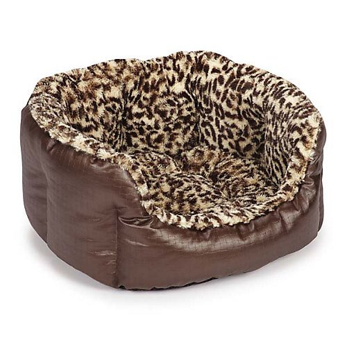 Cheap Slumber Pet Plush Safari Nesting Bed, 26-Inch, Leopard