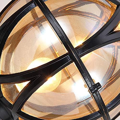 Europ/éen Cour Lanterne Villa Paysage Luminaire Traditionnel M/éditerran/éen En Aluminium Ball Streetlight E27 Globe En Verre Imperm/éable /À Leau Lumi/ère Jardin Parc Communaut/é Parc Voie Haute Pole Lampe