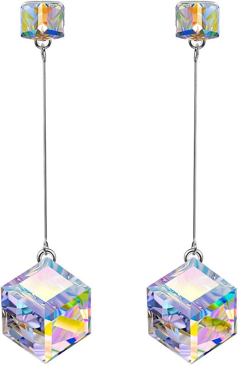 Pendientes Mujer, pendientes Largos, con Cristales de Swarovski, Joyas para Mujer, Regalos Mujer