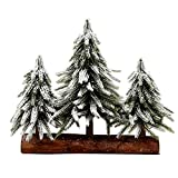 Cheap VGIA 3 Small Christmas Tree with Wood Stand Flocked Snow Christmas Decoration Tabletop Centerpiece