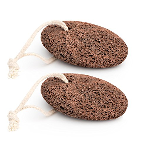 2 Pack, Pumice Stone for Foot Callus - Premium Callus Remover for Feet and Hands - Pedicure Tools, Exfoliation to Remove Dead Skin - Natural Foot File, by California Home (Hand Stone Spa)