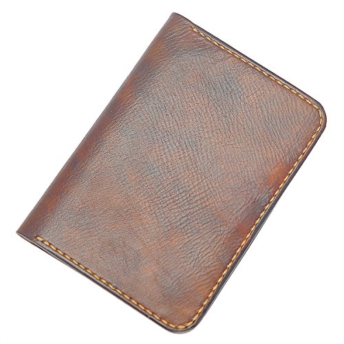Marycrafts Handmade Refillable Leather Mini Composition Notebook Covers Fits Standard 4.5 x 3.25