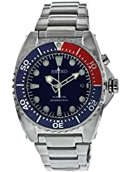 Seiko Mens SKA369 Kinetic Divers Blue Dial, Red & Blue Bezel 200m Watch