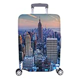 InterestPrint Manhattan New York City Skyline Travel Luggage Cover Suitcase Baggage Protector Fits 18'-21' Luggage