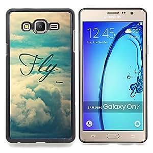 - fly motivational vignette text sky - - Modelo de la piel protectora de la cubierta del caso FOR Samsung Galaxy On7 G6000 RetroCandy