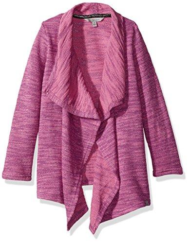 Calvin Klein Girls' Big Cardigan, Purple, 4 Calvin Klein Cotton Cardigan