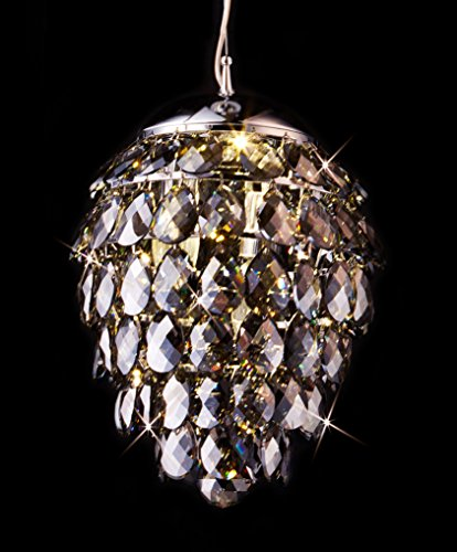 Saint Mossi K9 Crystal Rain Drop Chandelier Modern & Contemporary Ceiling Pendant Light 2 E12 Bulbs Required H43
