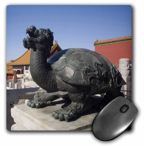 Price comparison product image 3dRose LLC 8 x 8 x 0.25 Inches Mouse Pad, Turtle Statue, Chinese Symbol, Forbidden City, Beijing-As07 Dbr0136 - Dave Bartruff (mp_72221_1)
