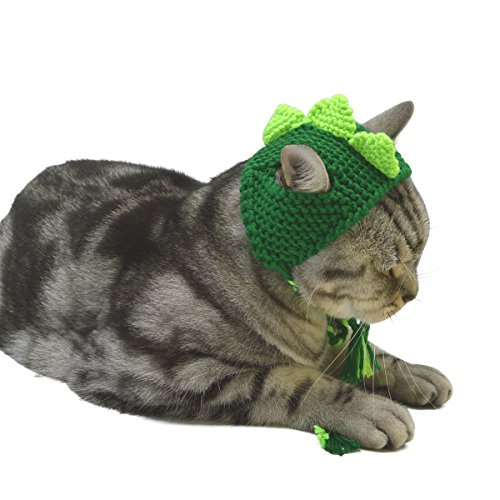 Cat Small Dog Handcraft Knitted Costume Hat Cosplay Party Pet Hat Dragon S ()